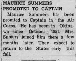 News Maurice Summers promotion to Capt. 1951 - Newspapers.com