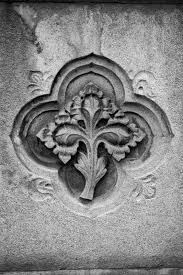 architectural detail photography. Black And White Architectural Detail Photograph Of Leaf Decoration Embedded Into A Wall In Nashville, Photography