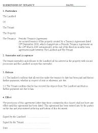 letter of ending tenancy agreement tenant lease termination letter