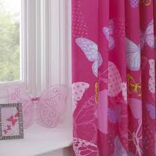 Lined Bedroom Curtains Butterfly Pink Lilac Yellow 66x54 Pencil Pleat Fully Lined