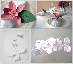 orchid paper flowers for inexpensive wedding centerpieces
