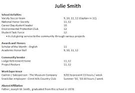 Innovative Ideas High School Resume For College Application Example