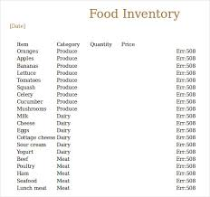 Stock Record Keeping Excel Sheet 13 Food Inventory Templates Doc Pdf Free Premium Templates