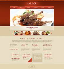 Restaurant Website Templates Awesome Excellent Cafe And Restaurant Website Templates Entheos