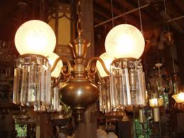 outstanding brass and crystal victorian chandelier