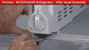 Refrigerator Ice Maker Filter Filter Head Assembly Samsung Refrigerator Repair Diagnostic