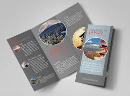 Fold Flyer Japan Travel Tri Fold Brochure Template Mycreativeshop