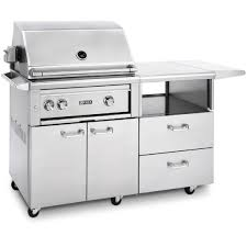 lynx 30 all prosear ir grill with rotisserie on mobile kitchen cart