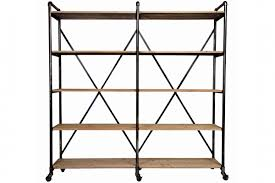 ludlow metal and wood shelf gardner white small bookcase from furniture cabinet clips kids shelving unit