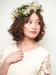 ボブショートの花冠スタイルかわい過ぎる短めヘアスタイルの