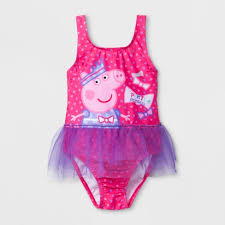 Toddler Girls' Peppa Pig One Piece Swimsuit - Pink : Target