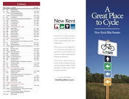 New Kent Eda Bike Map Trifold Brochure Brochures Thomas