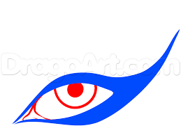 how to draw cat eye makeup step 2