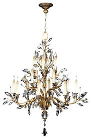 16 light chandelier fine art lamps crystal laurel gold leaf light chandelier brooklands 16 light crystal