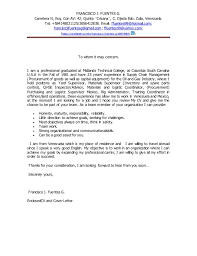 Resume Example To Whomever It May Concern Cover Letter Resume