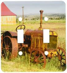 Tractor Light Switch Cover 3drose Lsp_93520_2 Oregon Shaniko Rusty Vintage Tractor In