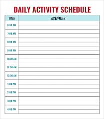 babysitting schedule template daycare template under fontanacountryinn com
