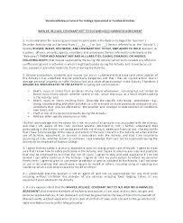 Free Printable Release Of Liability Form | Nfcnbarroom.com