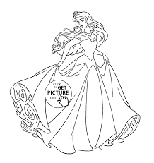 Princess Aurora Dancing Coloring Page For Kids Disney Princess