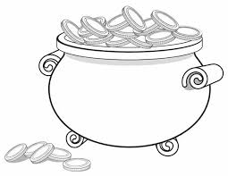 Small Picture A Giant Pot of Gold Full of Coins Coloring Page Download Print