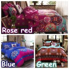 wish bohemian bedding set elephant printed bedding bedspread bedclothes duvet cover set queen king 3pcs no comforters no pillow inner