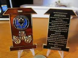 Us Navy Master Training Specialist Cpo Pledge Serialized Challenge