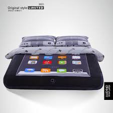 ipad style designer funny duvet covers creative unique personality iphone bedding sets students cartoon comforter set 4pc in bedding sets from home garden
