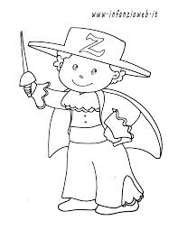 Disegni Da Colorare Categoria Carnevale Immagine Zorro