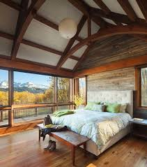Rustic Cabin Bedroom Decorating Colorado Mountain Cabin Perfectly Frames Views Of Mount Wilson