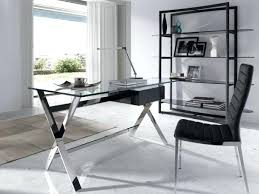 glass office table. Glass Office Desk Desks Modern Furniture Trendy Amazing Home Table