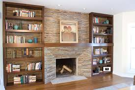 Small Picture Fireplace Bookshelves Design Made Of Wood In Rectangular Shape