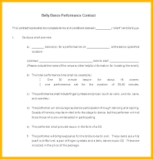 Dancer Contract Template Naomijorge Co