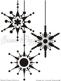 christmas card stencils sweet poppy stencil snowflake bauble cute xmas card design do