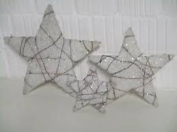 Weihnachtsdeko 3 Sterne Weiß Dekoration Fensterdeko Basteln