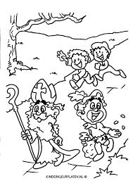 Kleurplaat Sinterklaas Pepernoten Feestdagen
