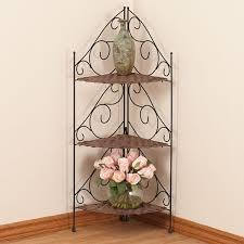 Wicker Corner Shelves 100Tier Wicker Metal Corner Shelves by OakRidge Easy Comforts 32