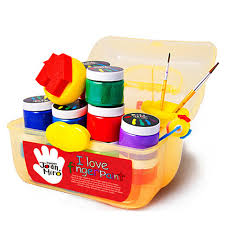 1 set finger painting pigment safe non toxic water washing drawing tools kit set for