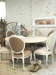 chic shabby french linen round dining table french