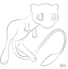 Small Picture Pokemon Mew coloring page Free Printable Coloring Pages