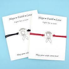 diabetic type 1 cal alert card bracelets fighter t cancer awareness ribbon silver charm jewelry women men uni gift