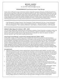 Business Analyst Resume Skill Writing Sample Samples Sevte
