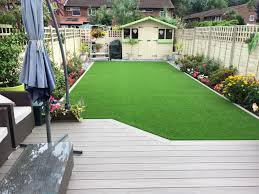 ecoscape forma havana composite decking with artificial turf