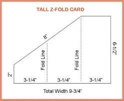folding card template tall z fold card crafts printables templates folded cards