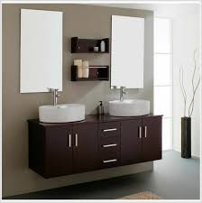 applying the double sink bathroom vanity cabinets amazing bathroom decoration with dark brown wall mounted