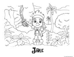 printable coloring pages of jake and the neverland piratesfree