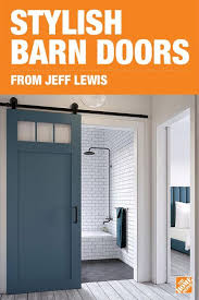 bring an exciting on trend statement piece into your home when you add a e saving jeff lewis barn door by masonite available in a variety of colors