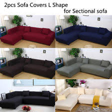 sectional covers. Modren Covers Sofa Covers L Shape 2pcs Polyester Fabric Stretch Slipcovers For Sectional  Sofa Inside EBay