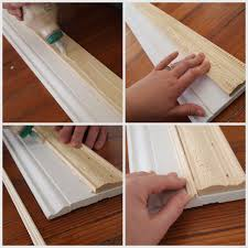 glue trim pieces together to make your own custom frame