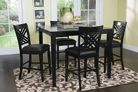 garage fabulous black bar height table 5 pristine monarch piece marble room set outdoor round dining