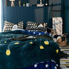 blue and green bedding sets green light bulb flannel duvet cover set queen king size bedding blue and green bedding